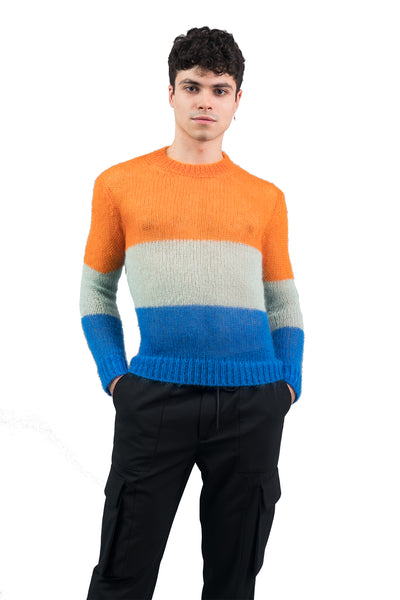 Light Knit Sweater - Stripes