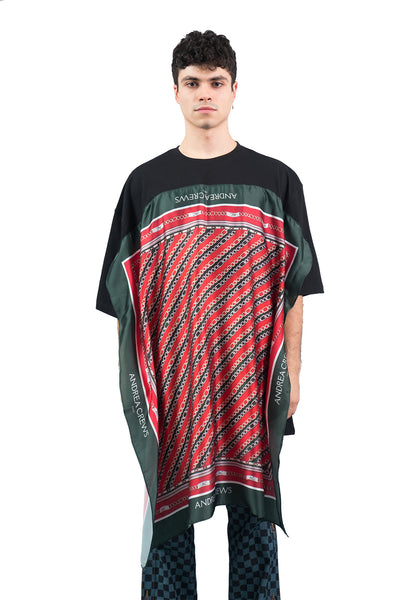 Oversized Scarf Tee -Heritage Red
