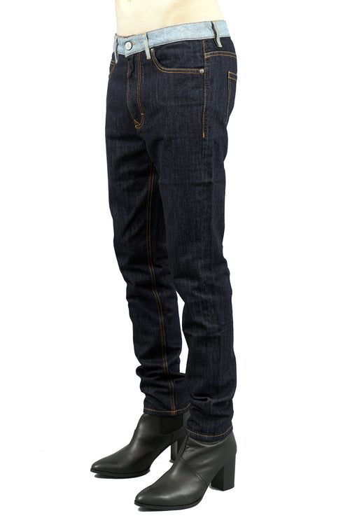 Tapered Blue Denim