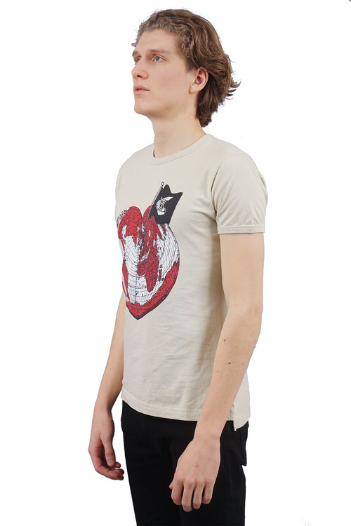 Heart World T-Shirt - Ecru