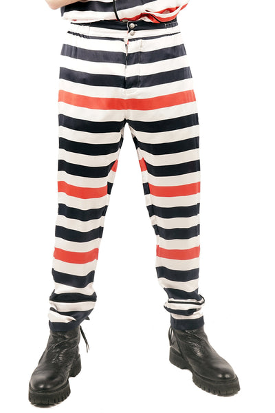 Striped Silk Pants - Only 1 Left!  - 60% OFF!