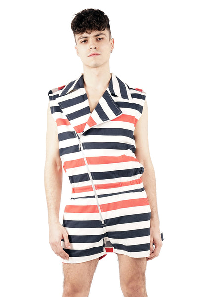 Striped Skirted Jumpsuit - 30% OFF!