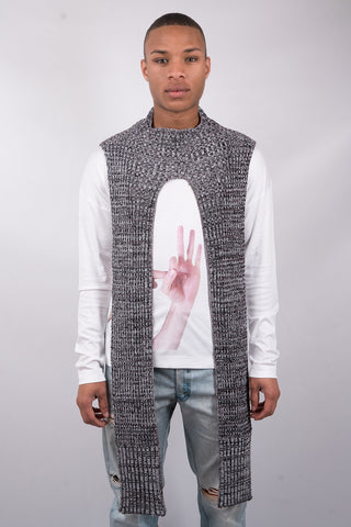 Flickering Knit Pullover Scarf - Grey - 60% Off!