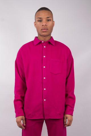 Wool Shirt - Pink - 60% Off!