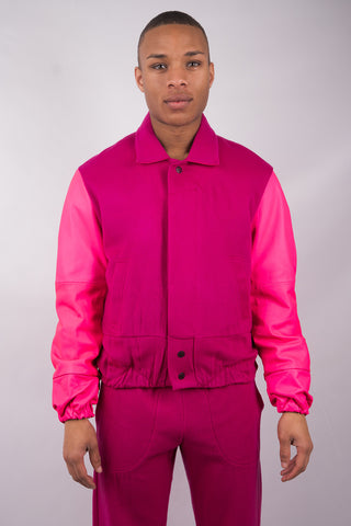 Football Jacket - Pink - 60% Off!
