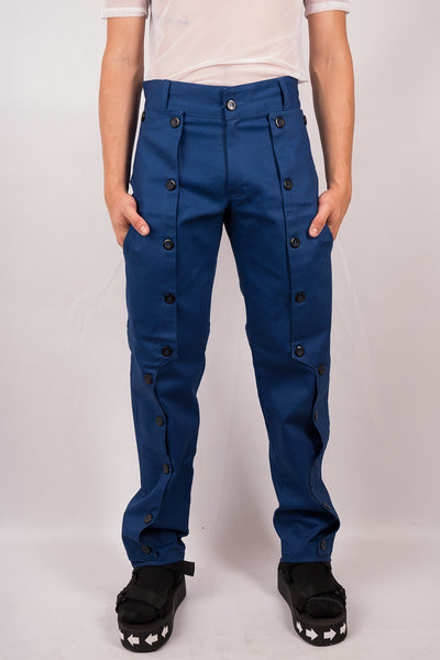 Button Pants - Blue - Sold Out!