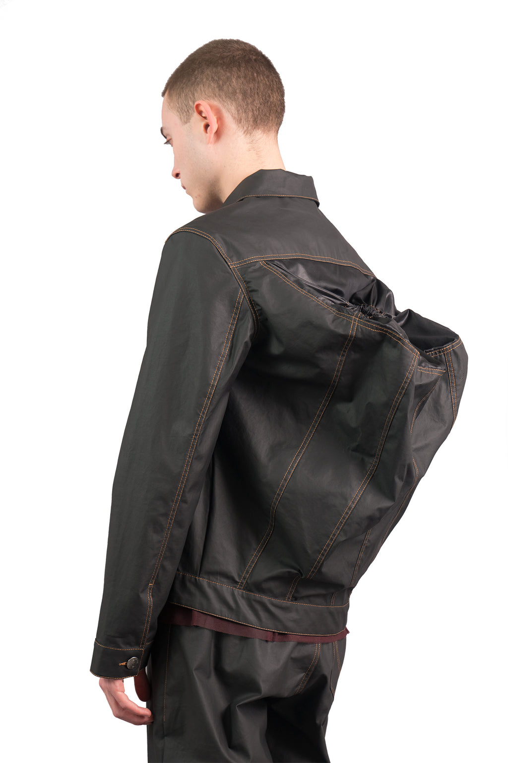 Rubber Backpack Jacket