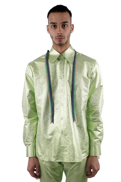 Ribbon Shirt - Green -60% Off!