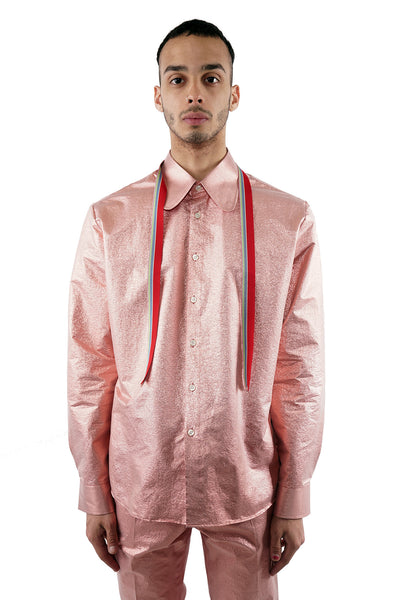Ribbon Shirt - Pink - 60% Off!