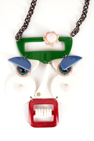 Flower Face Necklace - Sold Out!