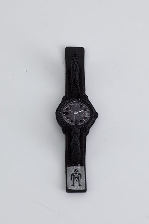 Watch Spiky Bracelet -  Black