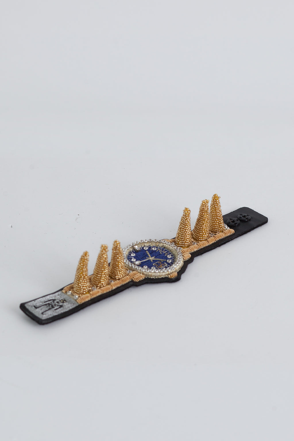 Watch Spiky Bracelet -  Gold