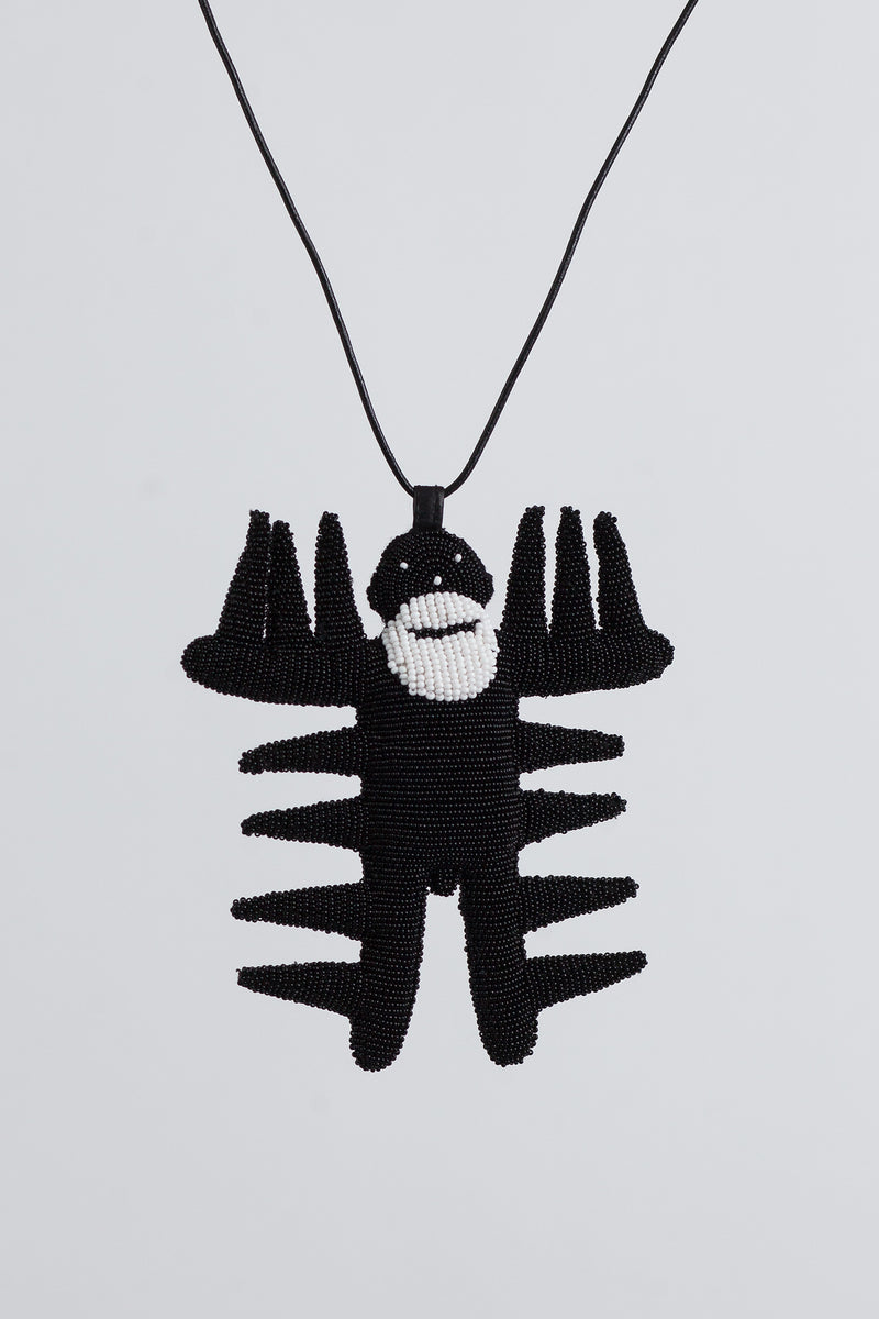 Spiky Walterman Necklace - Black