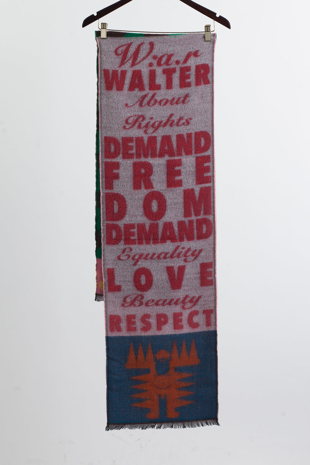 W:A.R. Scarf - Single - White/Red