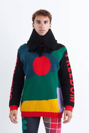 DEMAND FREEDOM Sweater W/ Collar
