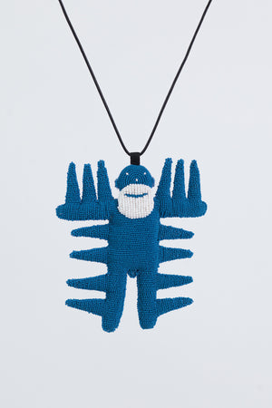 Spiky Walterman Necklace - Blue