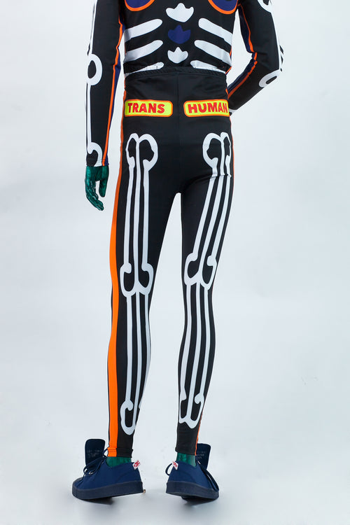 Skeleton Bike Leggings - Black