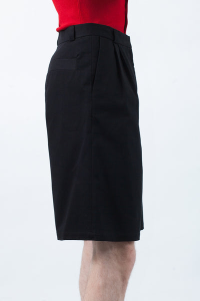 Pleat Shorts - Black