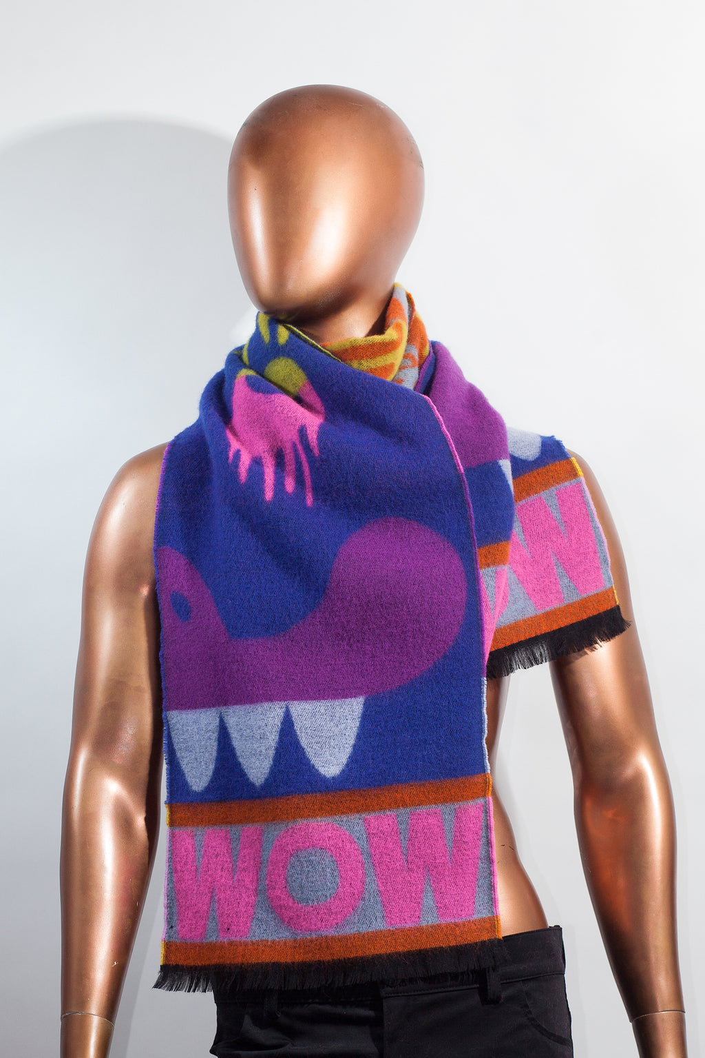 Drip Monster Scarf - Blue