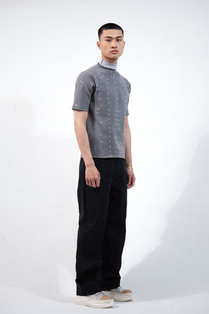 Humanoid Knit T-Shirt - Grey