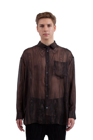 Sheer Wood Shirt - Pickled Wood