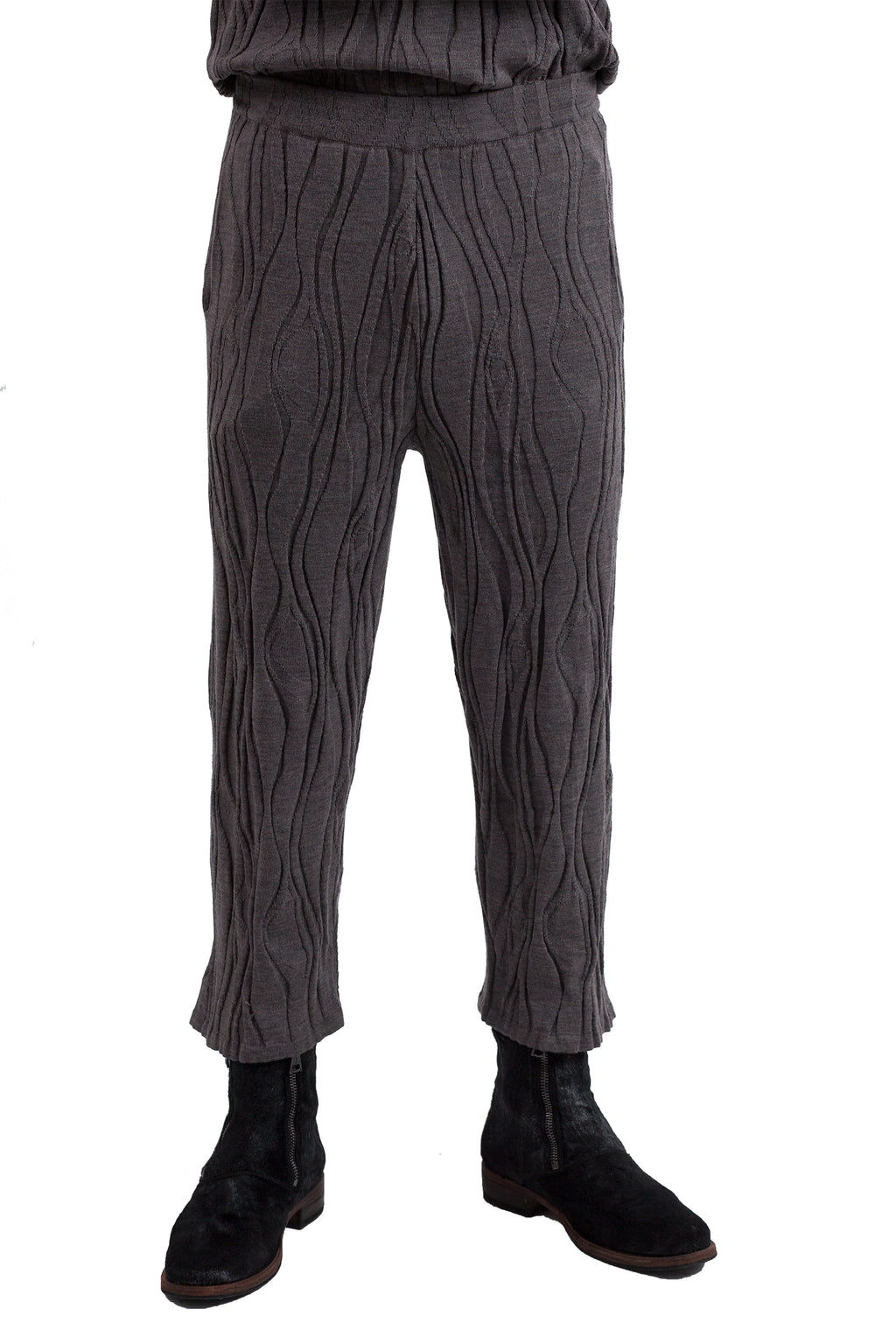 Wood Knit Pants - Grey
