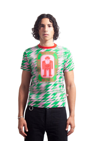 Walter Double Tee - Green/Pink