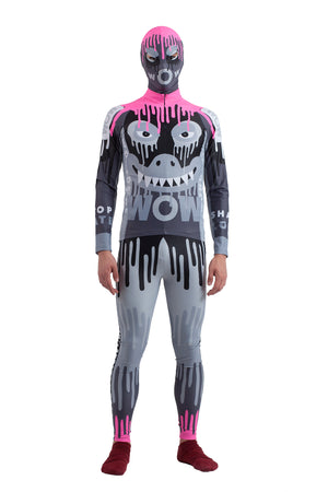 Dripping Monster Bike Top - Black/Pink