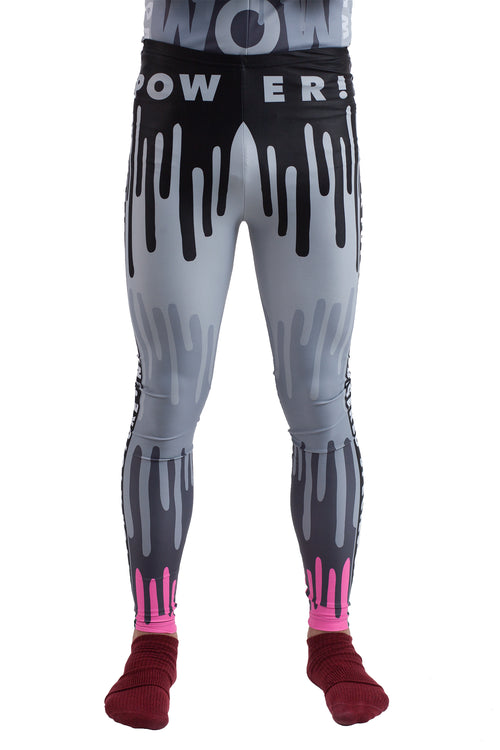 Drip Monster Bike Leggings - Black/Pink