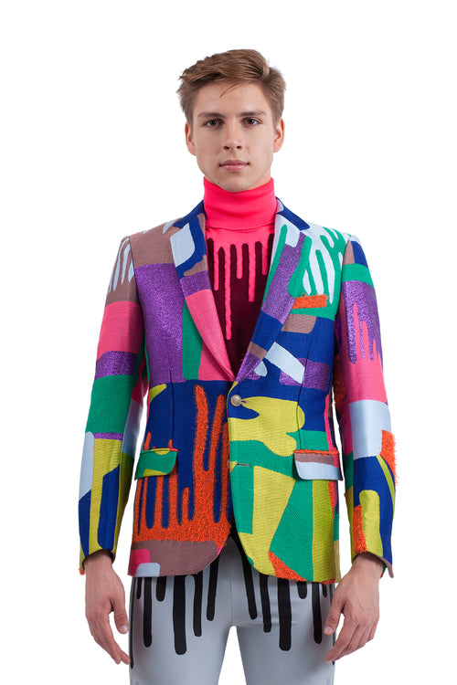Sharp Blazer - Bright Drip