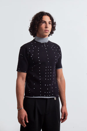 Humanoid Knit T-Shirt - Black