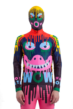 Dripping Monster Bike Top - Blue/Orange