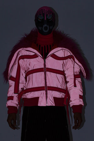 Wolf Bomber - Reflective Pink