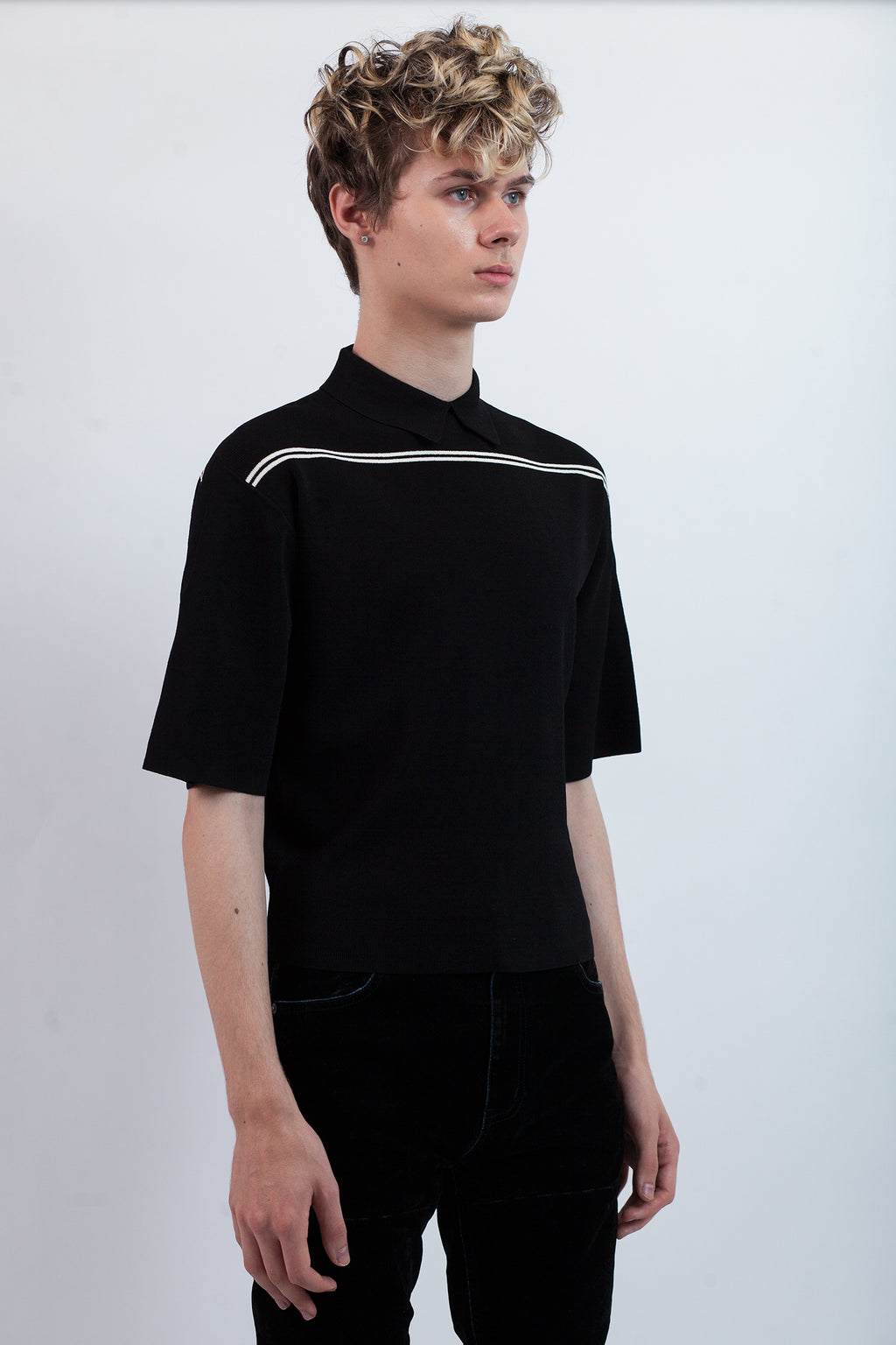 Knit Polo - Black