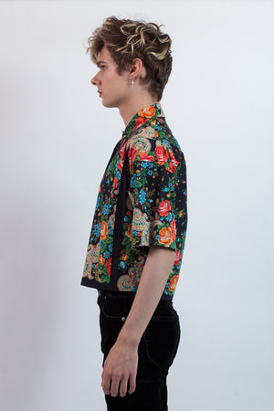 Cropped Shirt in Reclaimed Cotton