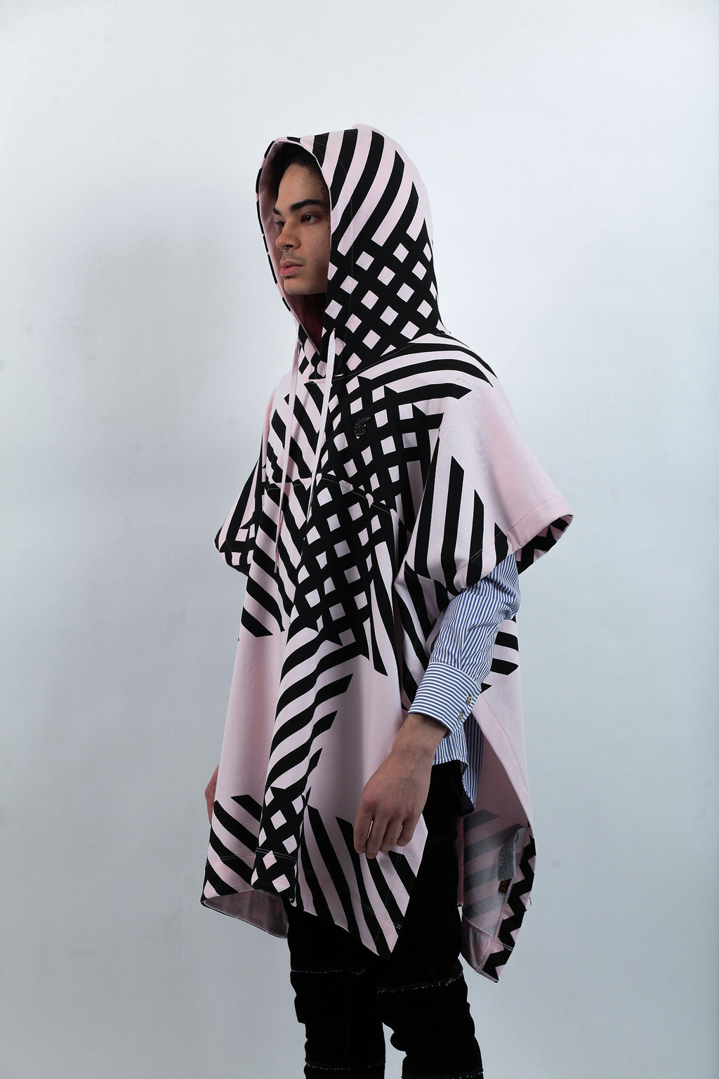 Hooded Tabard - Crini Check Print