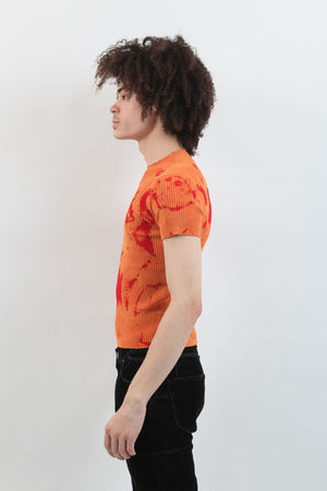 Tie Dye Mockneck - Orange/Red