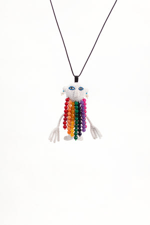 Alien Walter Man Necklace - Rainbow