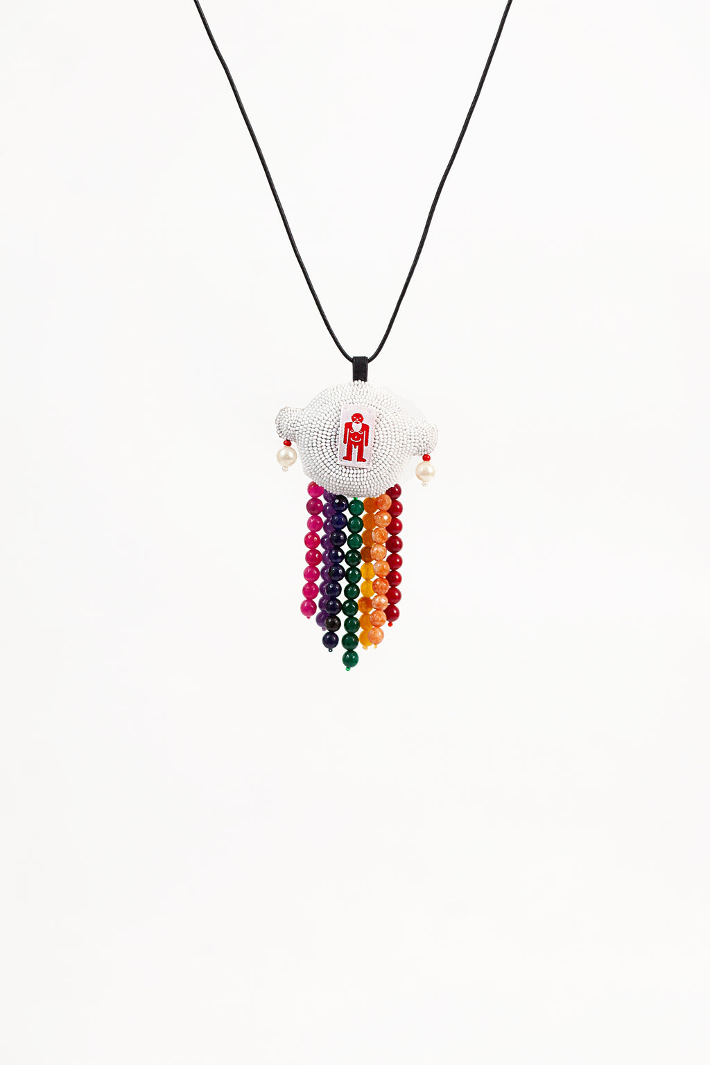 Alien Walter Necklace - Rainbow