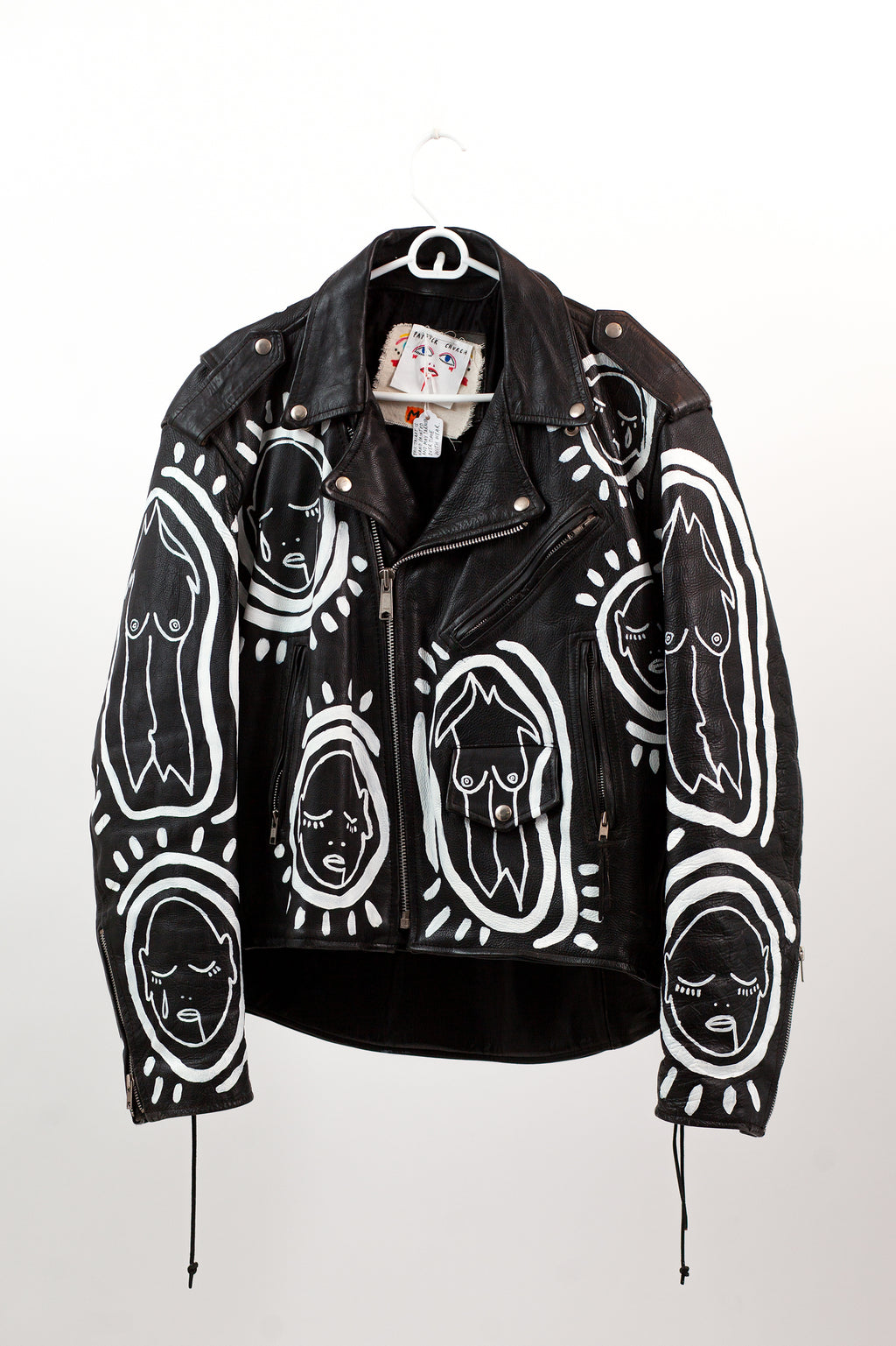 All Over You - Hand Painted Vintage Leather Jacket