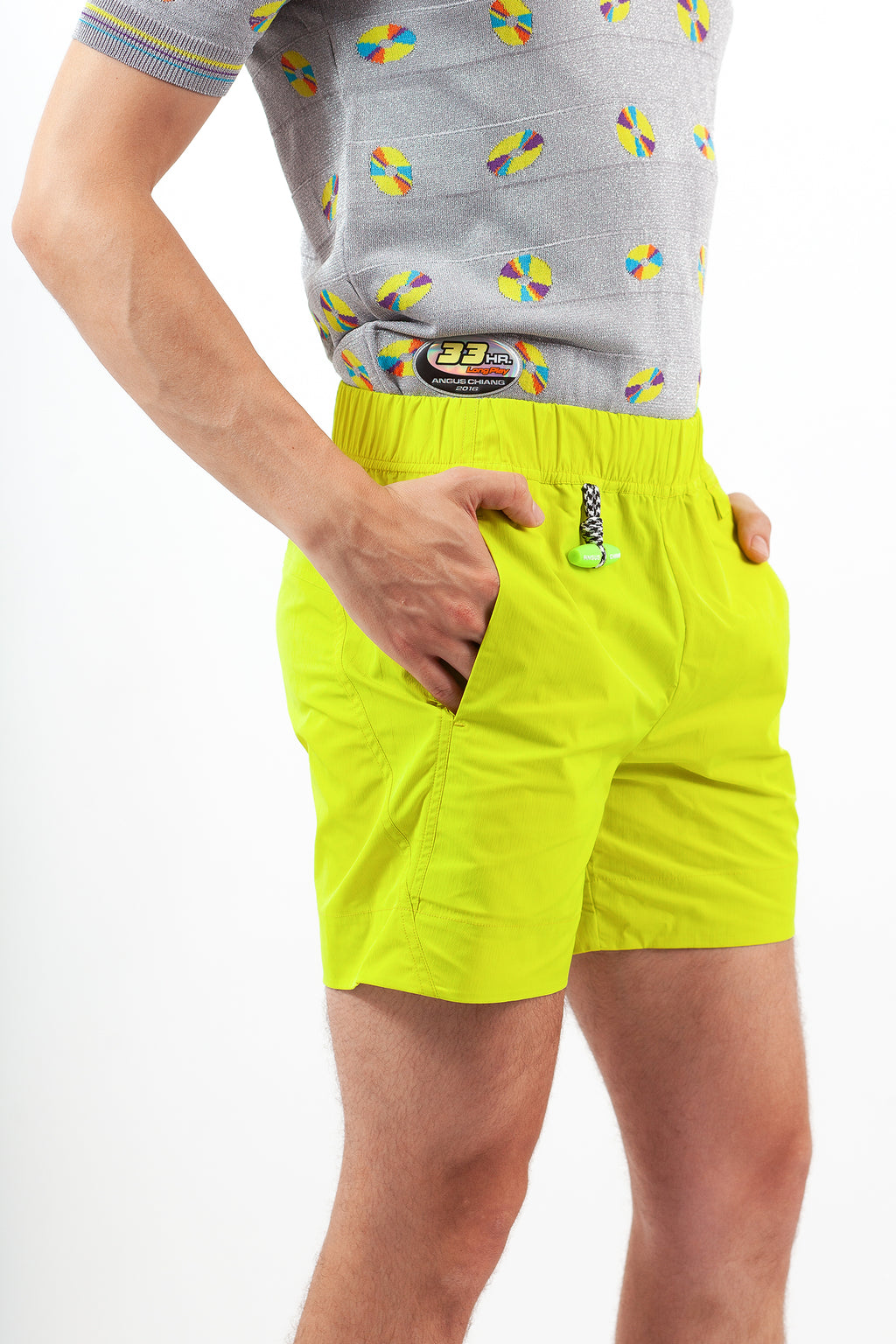 Splice Windbreaker Shorts