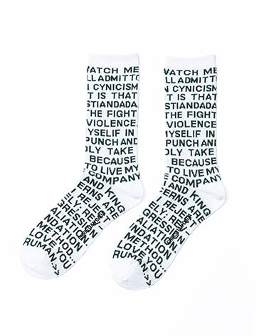 Twin Peaks Quote Socks - Off White