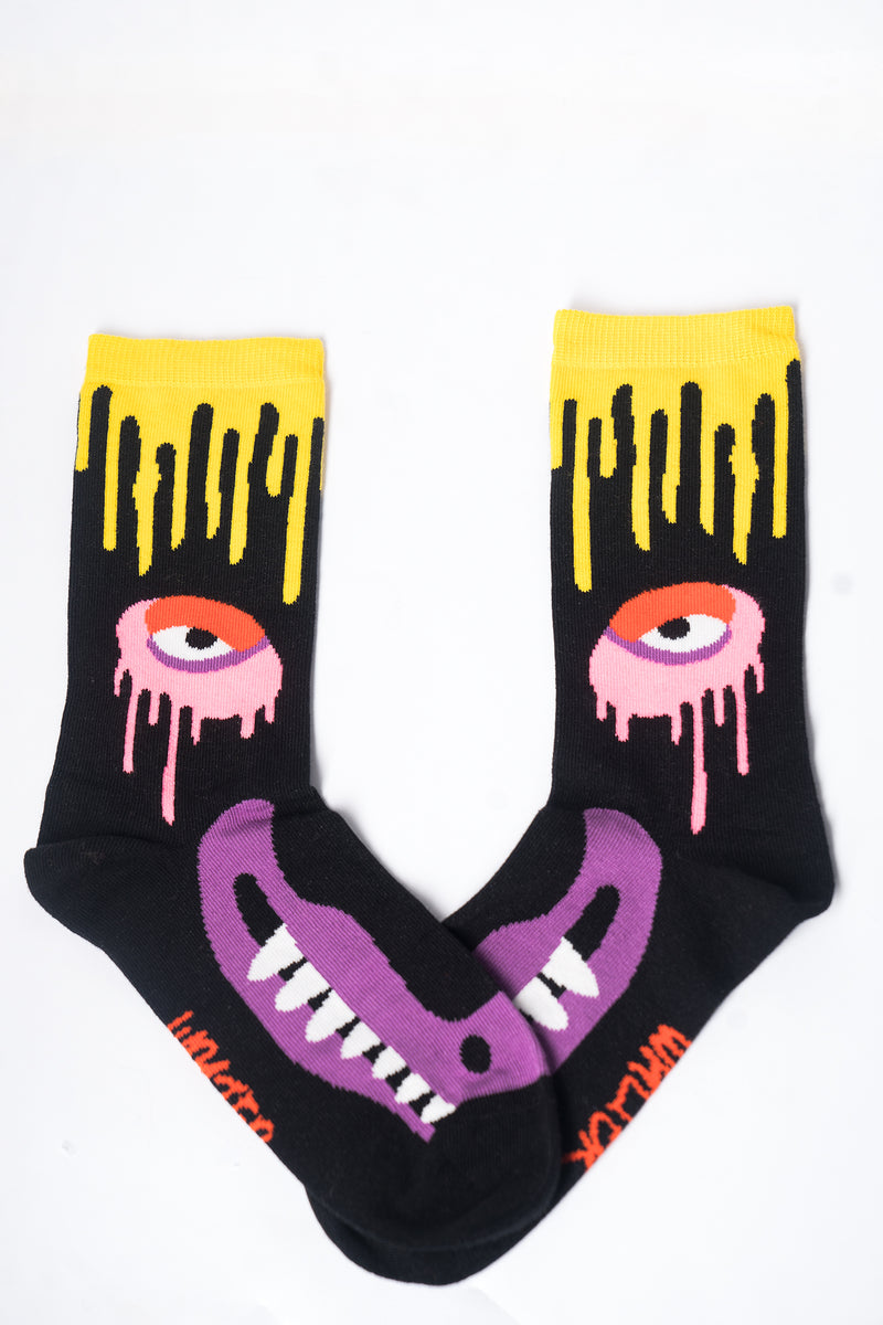 Drip Monster Socks - Black