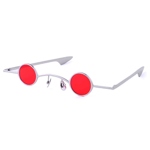 Blind Mice Sunglasses - Silver/Red