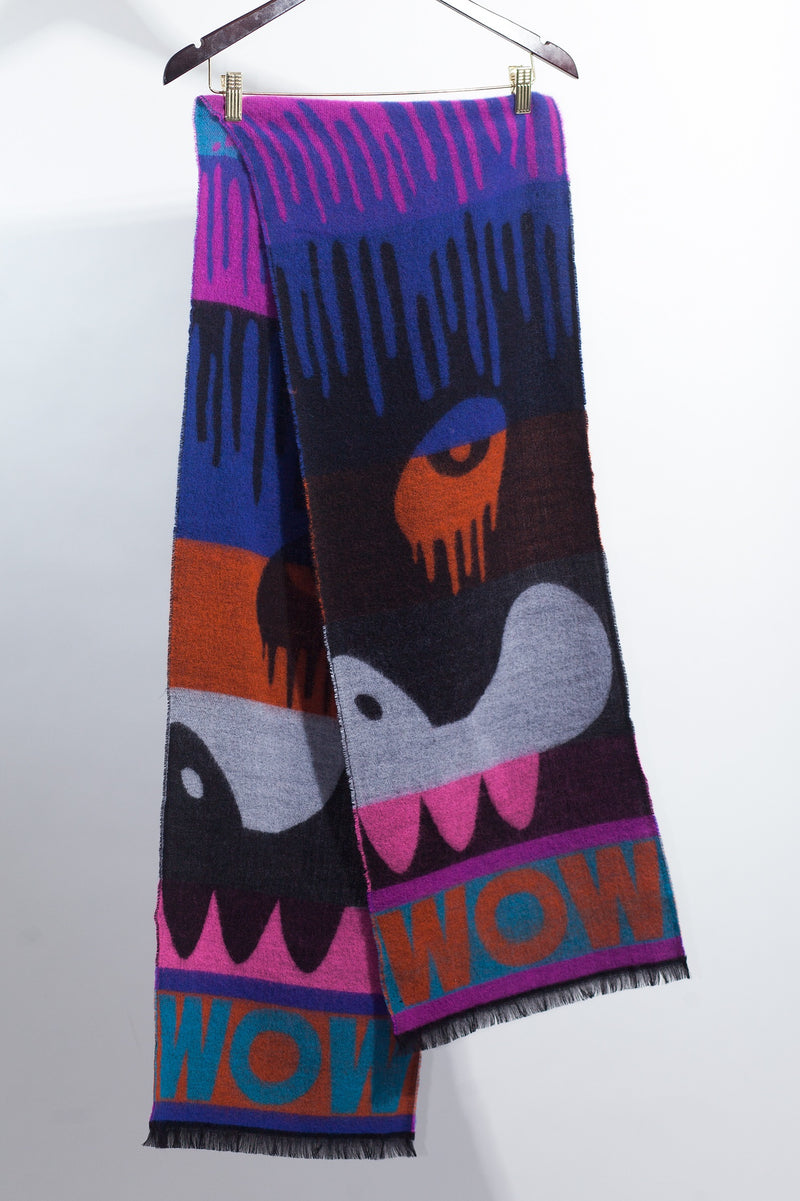 Drip Monster Scarf - Black