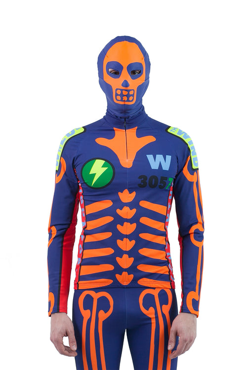 Skeleton Bike Top - Blue