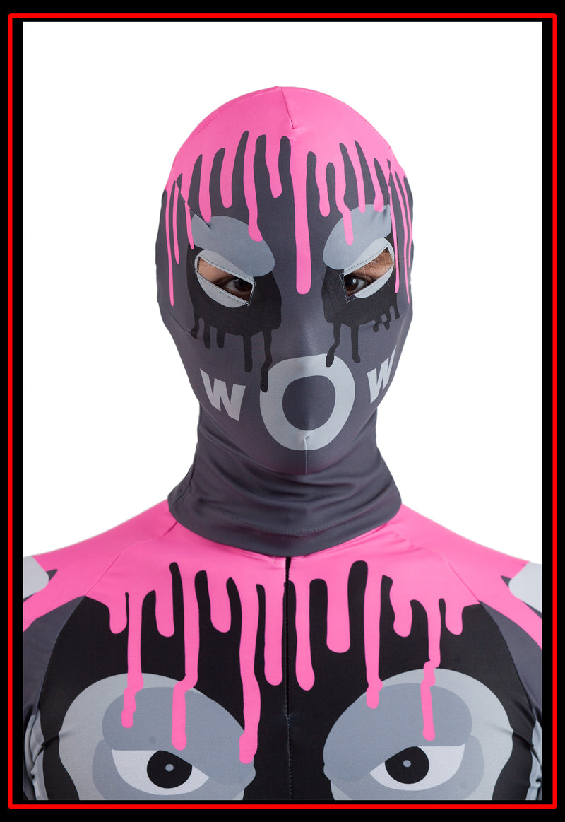 Dripping Monster Mask - Black/Pink