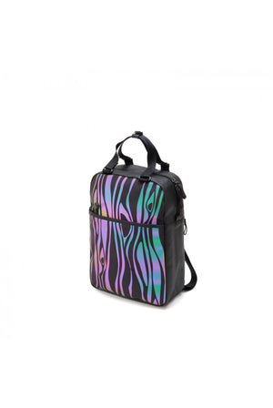 Rainbow Reflective Wood Backpack
