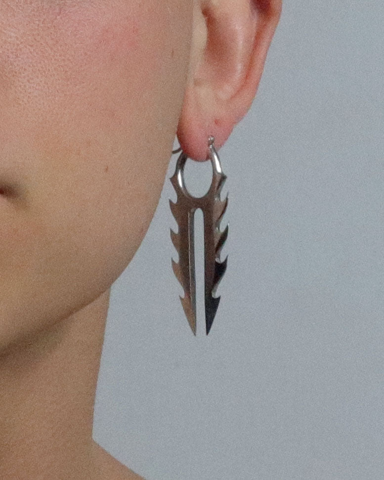 Saber Earring - Silver