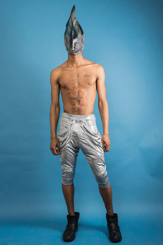 Urban Merman Trousers - Cropped - Silver - Sold Out!